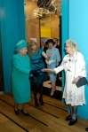 Baroness Greenfield introduces her mother to the Queen