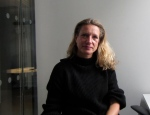 Juliana Ruhfus at Al Jazera Office